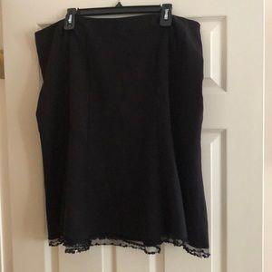 Lane Bryant Size 18 Dressy Black Skirt